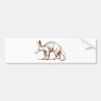 Aardvark Brown Bumper Sticker