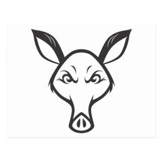 Aardvark enojado tarjetas postales