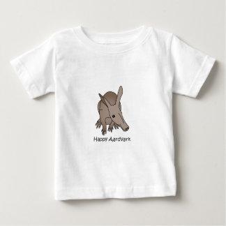 Aardvark feliz playera de bebé