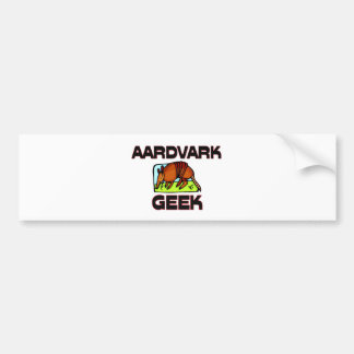 Aardvark Geek Bumper Sticker