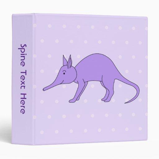 """Aardvark púrpura carpeta 1 1/2"""""""
