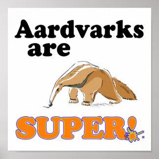 aardvarks are super poster