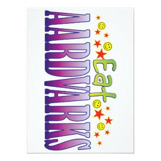 Aardvarks Eat 5.5x7.5 Paper Invitation Card