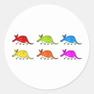 Aardvarks Round Sticker