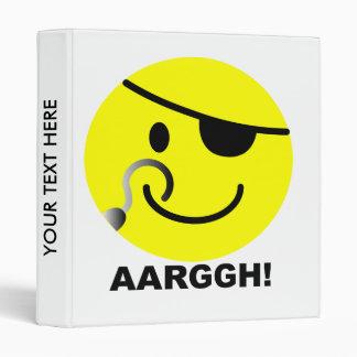 'AARGGH!'  SMILEY FACE BINDER