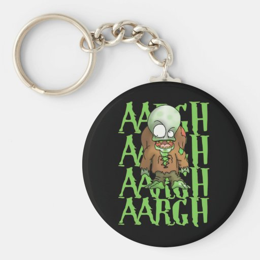 Aargh Basic Round Button Keychain