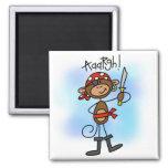 Aargh camisetas y regalos del pirata del mono imán para frigorifico