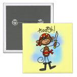 Aargh camisetas y regalos del pirata del mono pins