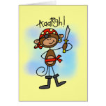 Aargh Monkey  Pirate Tshirts and Gifts Greeting Card