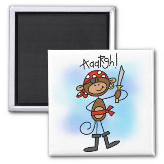 Aargh Monkey  Pirate Tshirts and Gifts Magnet