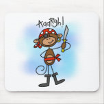Aargh Monkey  Pirate Tshirts and Gifts Mousepad