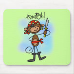 Aargh Monkey  Pirate Tshirts and Gifts Mousepads