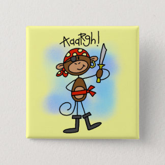 Aargh Monkey  Pirate Tshirts and Gifts Pinback Button