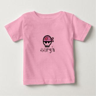 Aargh Pirate Skull Toddler Girl Baby T-Shirt
