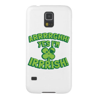 AARGHH YES I'm IRISH with a pirate SHAMROCK Galaxy S5 Cover