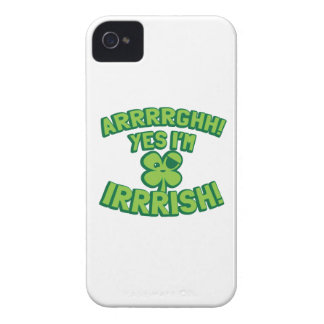 AARGHH YES I'm IRISH with a pirate SHAMROCK iPhone 4 Case