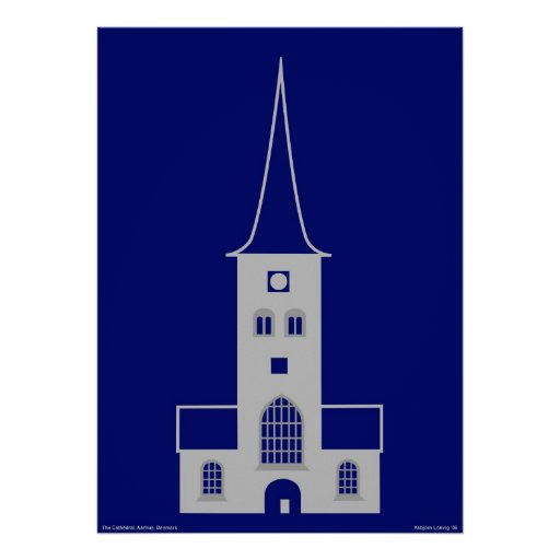 Aarhus Cathedral - St. Clemens Church Poster