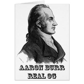 Aaron Burr Original Gangsta Card