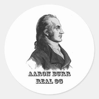 Aaron Burr Original Gangsta Classic Round Sticker