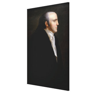 AARON BURR Portrait by John Vanderlyn Canvas Print