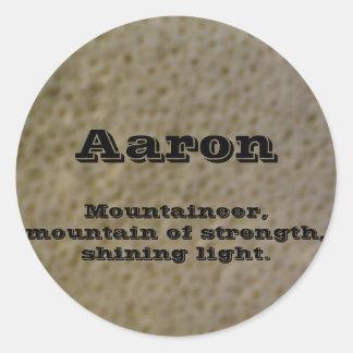 Aaron Classic Round Sticker