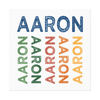 Aaron Cute Colorful Canvas Print