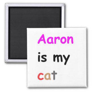 Aaron es mi gato imán cuadrado