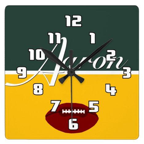 Aaron Football Limon Clock