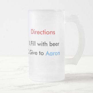 Aaron Jarra De Cerveza Esmerilada