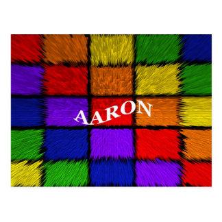 AARON (male names) Postcard