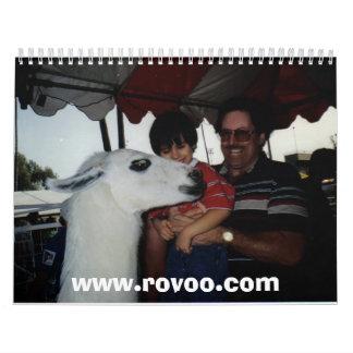 Aaron, papá y llama, www.rovoo.com calendario
