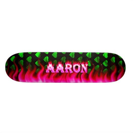 Aaron pink fire Skatersollie skateboard