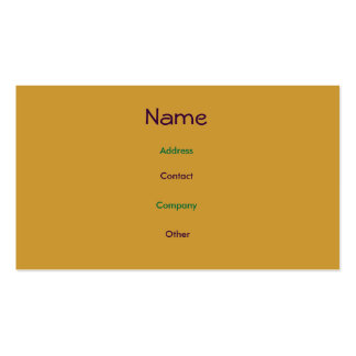 Aaron Profile Card Double-Sided Standard Business Cards (Pack Of 100)