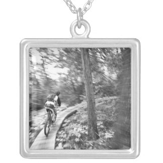 Aaron Rodgers mountain biking on the Stairway to Silver Plated Necklace