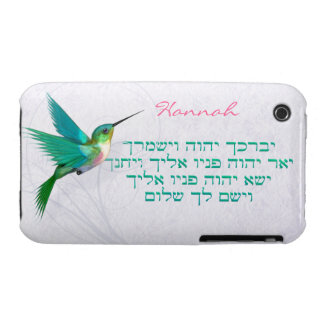 Aaronic Blessing HebBird iPhone 3G/3GS BarelyThere iPhone 3 Covers