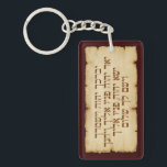 "Aaronic Blessing Hebrew &amp; English Keychain<br><div class=""desc"">The Aaronic Blessing (Priestly Blessing, Birkat Kohanim, ברכת כהנים) from Numbers 6:24-26 in modern Hebrew lettering on a parchment looking background on the front, and in customizable English on the back. (Orthodox Jewish Bible) Num 6:24 Y&#39;varekhekha Adonai v&#39;yishmerekha (Hashem bless thee, and keep thee); Num 6:25 Ya&#39;er Adonai panav eleikha...</div>"