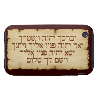 Aaronic Blessing Hebrew iPhone 3G/3GS Tough Case