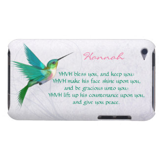 Aaronic Blessing Hummingbird English iPod Touch Case-Mate Case
