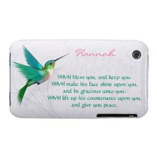 Aaronic Blessing Hummingbird English iPhone 3 Covers