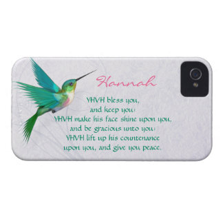Aaronic Blessing Hummingbird English iPhone 4 Case