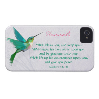 Aaronic Blessing Hummingbird English iPhone 4 Case-Mate Case
