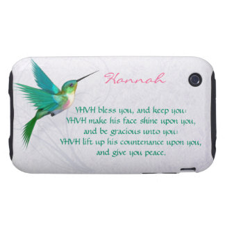 Aaronic Blessing Hummingbird English Tough iPhone 3 Cases