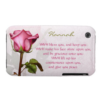 Aaronic Blessing Rose English iPhone 3 Cases