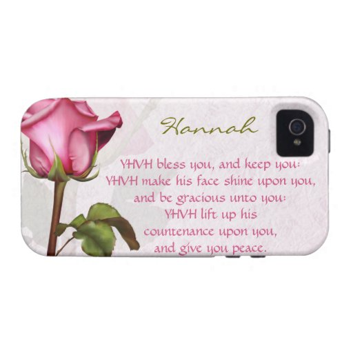 Aaronic Blessing Rose English Vibe iPhone 4 Covers