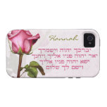 Aaronic Blessing Rose Hebrew iPhone 4 Case