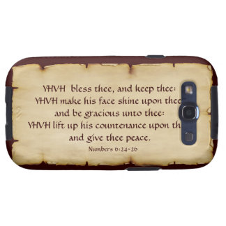 Aaronic Blessing Samsung Galaxy S Barely There Galaxy S3 Covers
