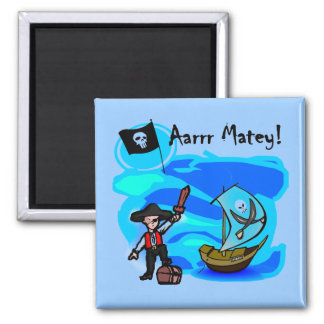 Aarrr Matey Tshirts and Gifts 2 Inch Square Magnet