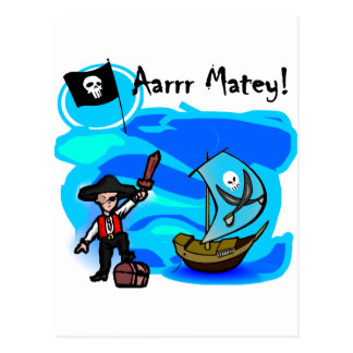 Aarrr Matey Tshirts and Gifts Postcard