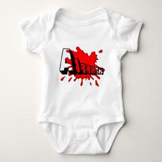 Aarrrgh over bloody splash baby bodysuit