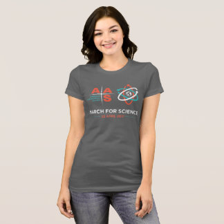 AAS + March for Science; Dark Gray T-Shirt